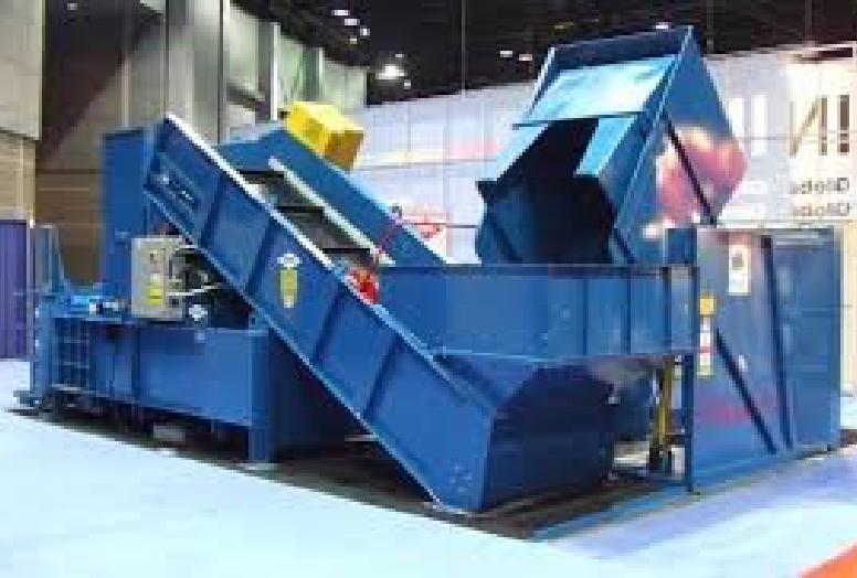 Horizontal Baler with Conveyor and Cart Dumper